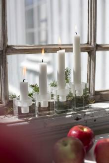 Queen Anne kryształowe świeczniki Optical