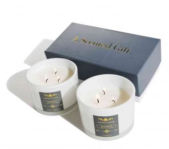 Zestaw dwóch świec zapachowych