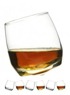 Szklanki do whiskey, zaokrąglona podstawa, 6-pak