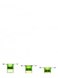 Planet świecznik, 3-pak, zielony