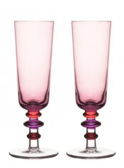 Spectra, kieliszki do szampana, 2-pak, różowe