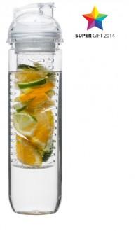Bidon z pojemnikiem na owoce, transparentny