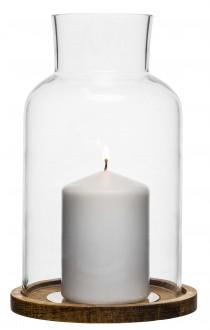 Oval oak świecznik Sagaform