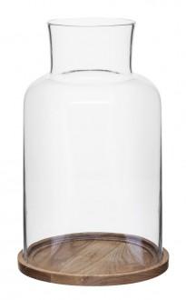 Oval oak świecznik, średni