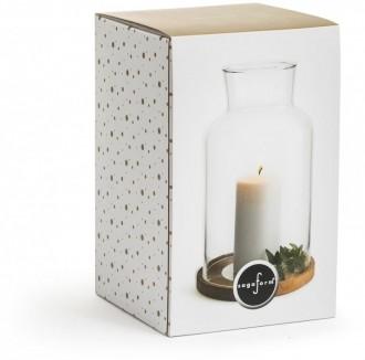OAK latern with candle Sagaform