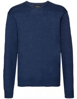Sweter z dzianiny V-Neck Russell Collection