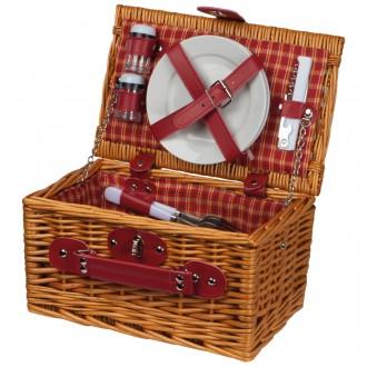 Kosz piknikowy dla dwóch osób styl ekologiczny